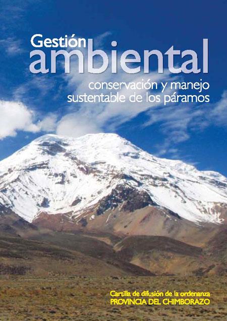 Ordenanza para la gestión ambiental y la conservación y manejo sustentable de los páramos de la provincia de Chimborazo