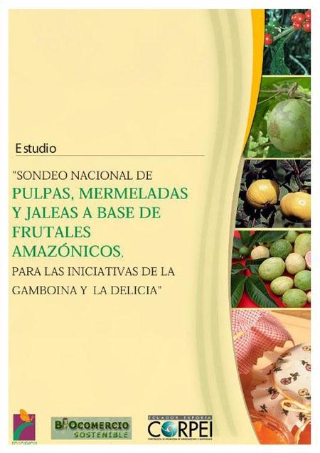 Sondeo nacional de pulpas, mermeladas y jaleas a base de frutales amazónicos, para las iniciativas de la Gamboina y la Delicia